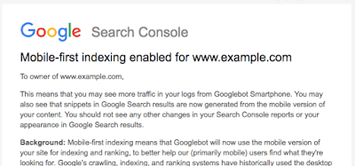 Google Mobile First Indexing Rollout