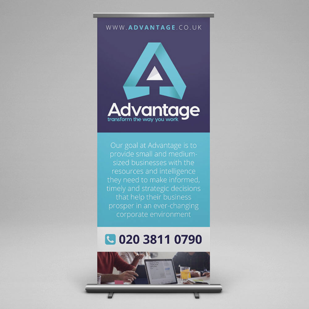 advantage banner