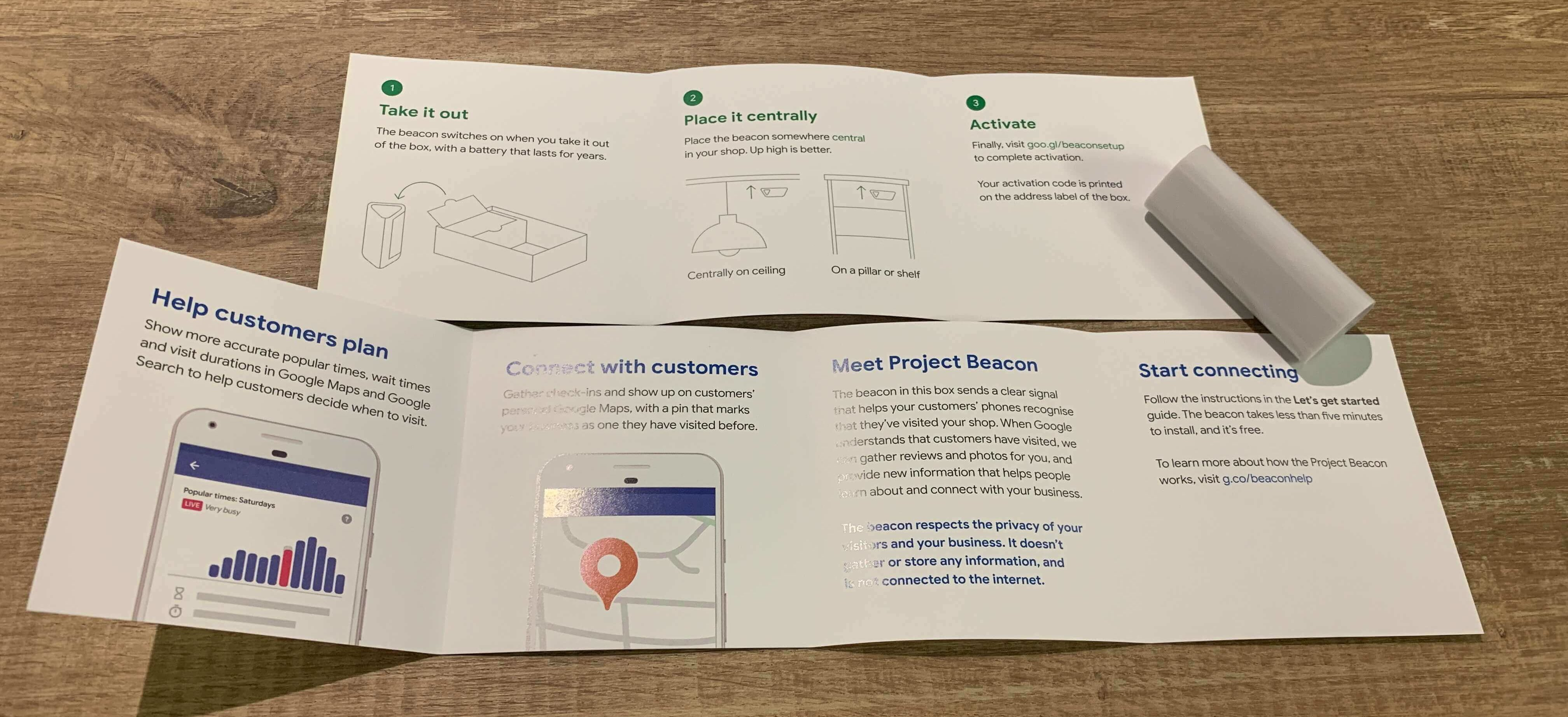 Google Project Beacon Unboxing Instructions