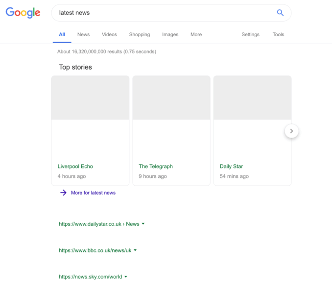 Google SERP Testing